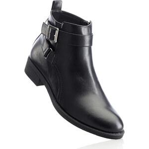 BODYFLIRT Bottines noir avec 3 cm talon carréchaussures & accessoires - bonprix