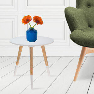 Lesara Table basse ronde en bois