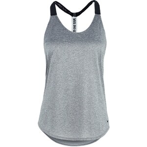 Nike Performance Top dark grey heather/black