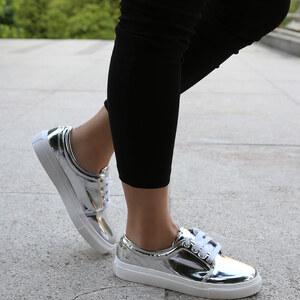 Lesara Chaussures aspect métallique intégral