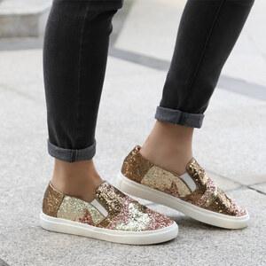Lesara Slippers avec patchwork et paillettes