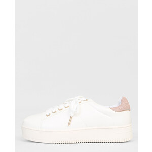 Baskets plateforme glitter blanc, Femme, Taille 36 -PIMKIE- MODE FEMME