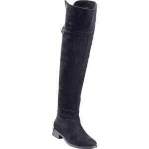 RAINBOW Overkneestiefel in schwarz für Damen von bonprix