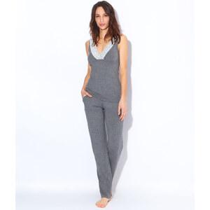 Pyjama deux pièces en modal, empiècements dentelle Etam