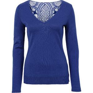 BODYFLIRT boutique Pull en maille bleu femme - bonprix