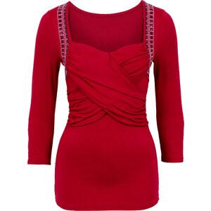 BODYFLIRT boutique T-shirt manches longues rouge femme - bonprix