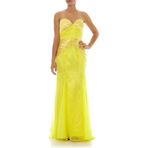 Faust Robe longue bustier - jaune