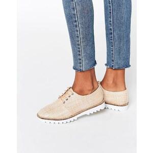 ASOS - MEET UP - Chaussures plates à lacets - Beige