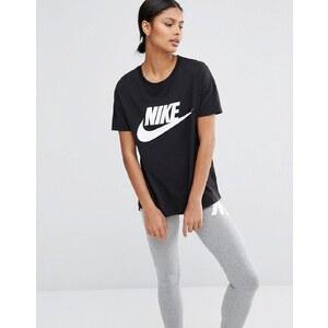 Nike - Signal - T-shirt à manches courtes avec grand logo - Noir