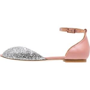 Emma Go JULIETTE Peeptoe Ballerina silver/blush/peach