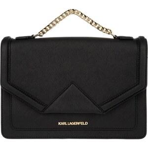 Karl Lagerfeld Sacs à Bandoulière, K/Klassik Shoulder Bag Black en or, noir