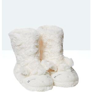 Bottines chaussons fausse fourrure mouton Etam