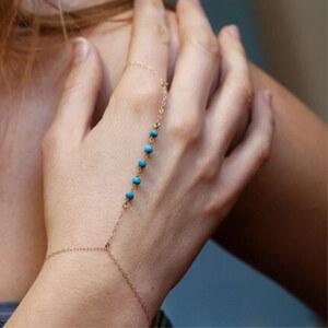 Lesara 2er-Set Handkette mit Türkis-Perlen