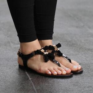 Lesara Sandales nu-pieds avec pompons