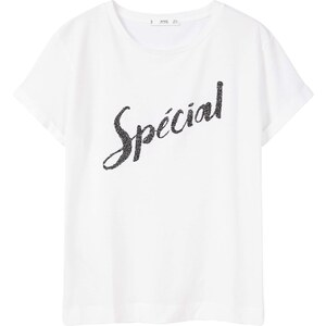MANGO T-Shirt Message Et Perles