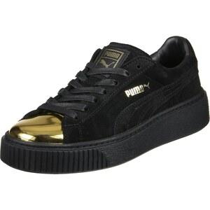 Puma Suede Platform Gold W chaussures gold/puma black