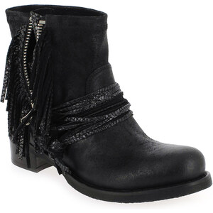 Boots Femme Mimmu en Cuir Noir