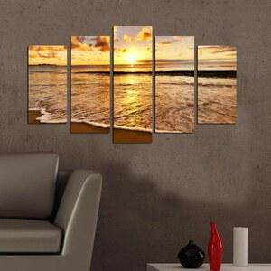 Deco Wall Coucher de soleil - 5-teiliges Bild - mehrfarbig