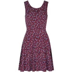 Tally Weijl Robe Patineuse Rouge Fleurie