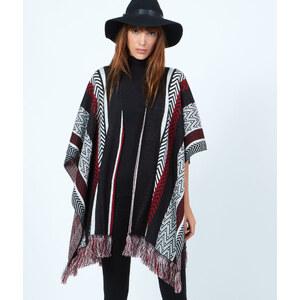 Poncho tricot à motifs Etam