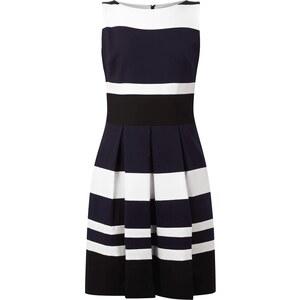 Lauren Ralph Lauren Kleid mit Streifenmuster und Kellerfalten