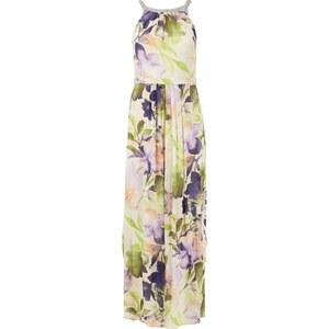Esprit Collection Abendkleid mit Collierkragen und floralem Muster