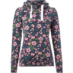 Superdry Sweatshirt mit floralem Muster und Kapuze
