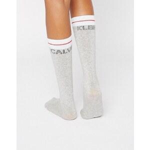Calvin Klein - Chaussettes montantes avec logo emblématique - Gris