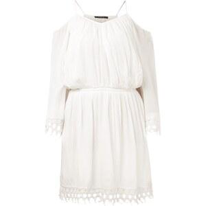 Vila Kleid aus Viskosekrepp mit Besatz aus Häkelspitze