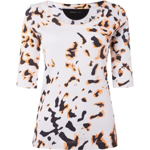 Marc Cain Sports Shirt mit Animalmuster - fein gerippt