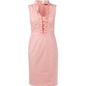 Jake*s Collection Kleid mit Rüschenbesatz am Ausschnitt