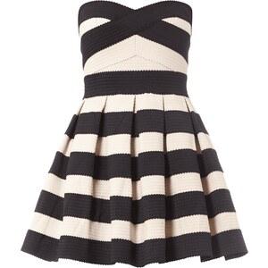 REVIEW Kleid aus elastischen Zierborten mit Kellerfalten