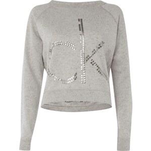 Calvin Klein Jeans Cropped Sweatshirt mit dekorativem Pilling-Effekt