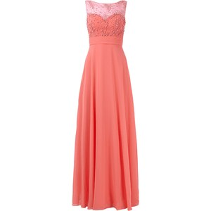 Luxuar Abendkleid mit Zierperlen- und Ziersteinbesatz