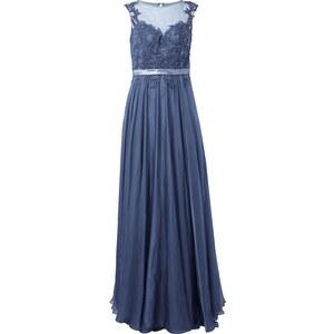 Luxuar Abendkleid mit Spitze und Zierperlen