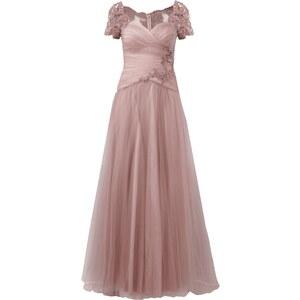 Luxuar Abendkleid mit Stickerei und Ziersteinbesatz