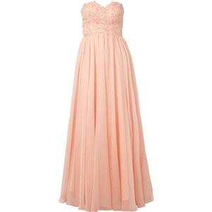 Luxuar Abendkleid mit floralem Zierbesatz und Strass