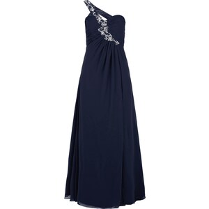 Jora Collection One-Shoulder-Abendkleid mit Ziersteinbesatz