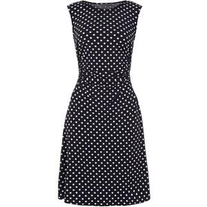 Montego Kleid mit Polka Dots und seitlichen Raffungen