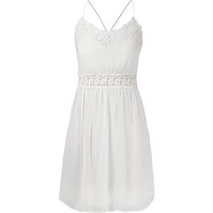 Vila Kleid aus Chiffon mit Häkelspitze
