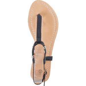 Lesara Zehentrenner-Sandale mit schmalen Riemchen - Schwarz - 36