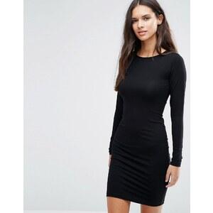 ASOS - Mini robe moulante à manches longues - Noir