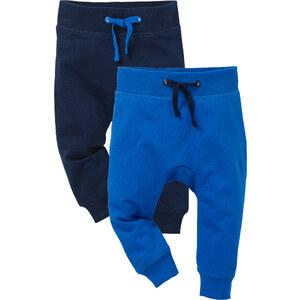 bpc bonprix collection Lot de 2 pantalons sweat bébé en coton bio bleu enfant - bonprix