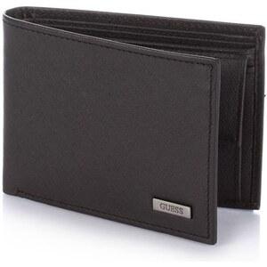 Guess New Saffiano Billfold with Coin Pocket - Portefeuille en cuir - noir