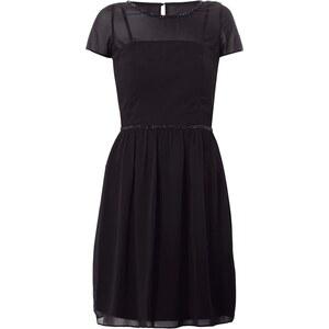 Esprit Collection Kleid mit Ziersteinbesatz und Einsatz aus Mesh