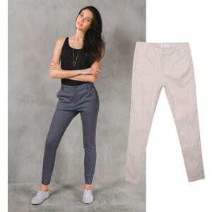 Lesara Pantalon taille mi-haute avec poches passepoilées