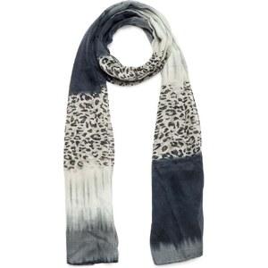 Eram Foulard imprimé léopard gris