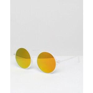 7X - Lunettes de soleil rondes à verres effet miroir - Clair