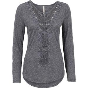 BODYFLIRT boutique T-shirt manches longues gris femme - bonprix