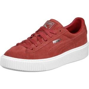 Puma Suede Platform W chaussures barbados cherry